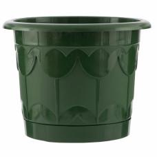 Горшок Тюльпан с поддоном, зеленый, 3,9 литра PALISAD 69238 в Алматы
