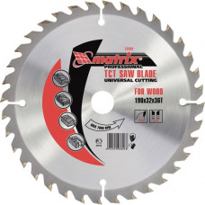 Пильный диск по дереву, 255 х 32мм, 48 зубьев + кольцо 30/32 MATRIX Professional 73241 в Алматы
