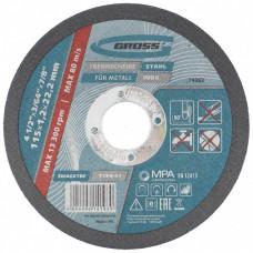 Круг отрезной по металлу, 115 х 1,2 х 22 мм // GROSS 74362 в Алматы