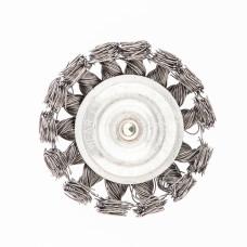 Щетка для дрели, 75 мм, плоская со шпилькой, крученая металлическая проволока 0,5 мм Сибртех 744307 в Алматы