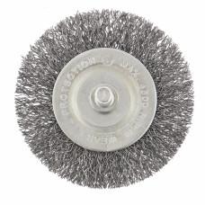 Щетка для дрели, 60 мм, плоская со шпилькой, витая проволока СИБРТЕХ 744467 в Алматы