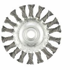 Щетка для УШМ 100 мм, М14, плоская, крученая проволока 0,5 мм. MATRIX 74639 в Алматы