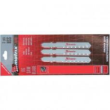 Полотна для электролобзика по металлу, 3 шт., 50 х 0,8мм, HSS, EU- хвостовик MATRIX 78143 в Алматы