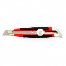 Нож, 18 мм, выдвижное лезвие, металлическая направляющая, винтовой фиксатор лезвия MATRIX 78914 в Алматы