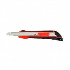 Нож, 9 мм выдвижное лезвие, метал. направляющая, эргоном. двухкомпонентная рукоятка MATRIX 78932 в Алматы