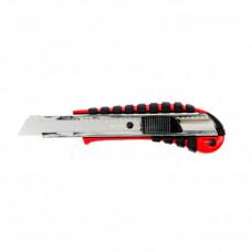 Нож, 18 мм выдвижное лезвие металлическая направляющая эргоном. двухкомпонентная рукоятка MATRIX 78938 в Алматы