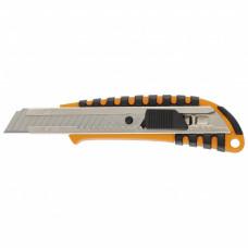 Нож, 18 мм выдвижное лезвие металлическая направляющая пластиковый двухкомпонентный корпус Sparta 78939 в Алматы