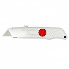Нож, 18 мм, выдвижное трапециевидное лезвие, металлический корпус MATRIX 78964 в Алматы