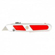 Нож, 18 мм, выдвижное трапециевидное лезвие, отделение для лезвий, метал.корпус MATRIX MASTER 78967 в Алматы
