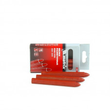 Мелки разметочные восковые красные, 120мм, коробка 6шт.// MATRIX 84818 в Алматы