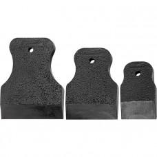 Набор шпателей 40-60-80 мм, черная резина, 3 шт. Россия 858285 в Алматы