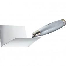 Мастерок из нерж. стали, 80 х 60 х 60 мм, для внутренних углов, деревянная ручка MATRIX 86308 в Алматы