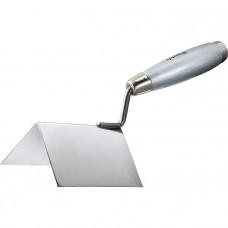 Мастерок из нерж. стали, 80 х 60 х 60 мм, для внешних углов, деревянная ручка MATRIX 86312 в Алматы