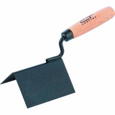 Кельма угловая, 110 х 75 х 75 мм, стальная, для внешних углов, буковая ручка СИБРТЕХ 86313 в Алматы