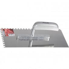 Гладилка из нержавеющей стали, 280 х 130 мм, деревянная ручка, зуб 6 х 6 мм MATRIX 86737 в Алматы