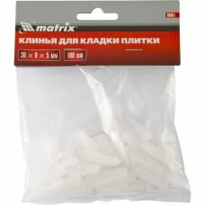 Клинья для кладки плитки 30 х 6 х 5 мм упаковка 100 шт. Matrix 88081 в Алматы