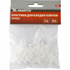 Крестики, 1,5 мм, для кладки плитки, упаковка 100 шт. Matrix 88084 в Алматы