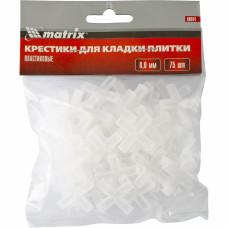 Крестики, 6,0 мм, для кладки плитки, упаковка 75 шт. Matrix 88094 в Алматы