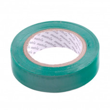 Изолента ПВХ, 15 мм х 10 м, зеленая, 150 мкм. Matrix 88774 в Алматы