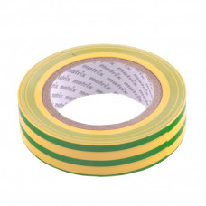 Изолента ПВХ, 15 мм х 10 м, желто-зеленая, 150 мкм. Matrix 88776 в Алматы