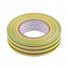 Изолента ПВХ, 19 мм х 20 м, желто-зеленая, 150 мкм. Matrix 88783 в Алматы