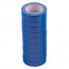 Набор изолент ПВХ 15 мм х 10 м, синяя, в упаковке 10 шт, 150 мкм. Matrix 88784 в Алматы