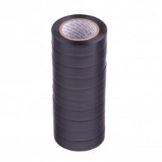 Набор изолент ПВХ 15 мм х 10 м, черная, в упаковке 10 шт, 150 мкм. Matrix 88785 в Алматы