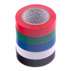 Набор изолент ПВХ цветных 15 мм х 10 м, в упаковке 5 шт, 150 мкм. Matrix 88786 в Алматы