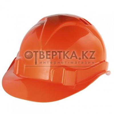 Каска защитная из ударопрочной пластмассы, оранжевая СИБРТЕХ Россия 89113