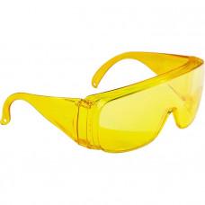 Очки защитные открытого типа, желтые, ударопрочный поликарбонат СИБРТЕХ Россия 89157 в Алматы