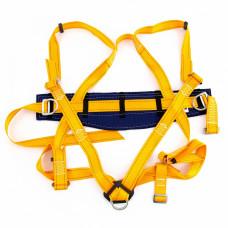 Удерживающе-страховочная привязь, модель УСП II, наплечные и набедренные лямки, высокий кушак Сибртех 89507 в Алматы