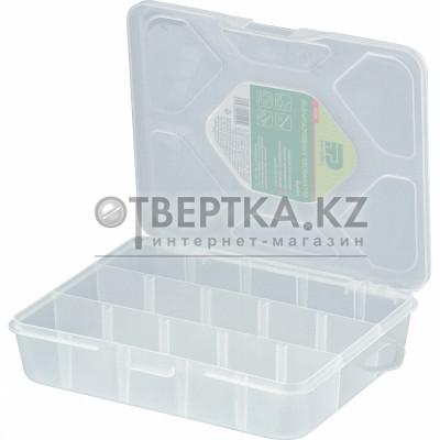 Органайзер универсальный малый, прозрачный матовый 19 х 16 х 4,5 см. СИБРТЕХ 90726