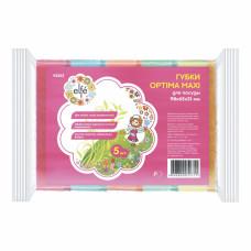 Губки для посуды Optima MAXI, 98*65*31 мм, 5шт. Elfe Россия 92353 в Алматы