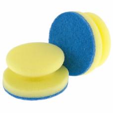 Губки для посуды c тефлоновым покрытием, круглые, d 95*50 мм, 2 шт. в картоне ТМ Elfe Россия 92361 в Алматы