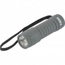 Фонарь светодиодный, серый корпус с мягким покрытием, 9 Led, 3хААА Denzel 92612 в Алматы