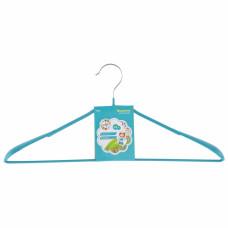 Вешалка металлическая для верхней одежды с прорезиненным противоскользящим покрытием 45 см, бирюзовая ELFE 92926 в Алматы