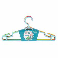 Вешалка пластиковая для легкой одежды 38 см, цветная, 5 шт в комплекте ELFE 92930 в Алматы