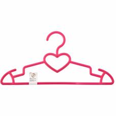 Вешалка сердечко для верхней одежды пластиковая, цветная 41 см. ELFE 92932 в Алматы