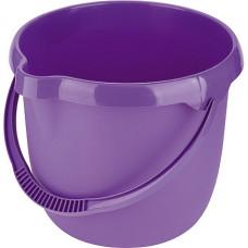 Ведро пластмассовое круглое 12л, фиолетовое ТМ Elfe Россия 92957 в Алматы