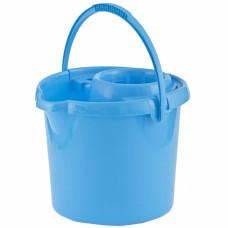 Ведро пластмассовое круглое с отжимом 9л, голубое ТМ Elfe Россия 92961 в Алматы