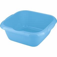 Таз пластмассовый квадратный 12л, голубой ТМ Elfe Россия 92985 в Алматы