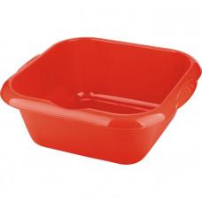 Таз пластмассовый квадратный 18л, красный ТМ Elfe Россия 92987 в Алматы