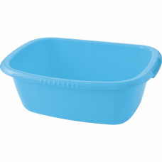 Таз пластмассовый прямоугольный 24 л, голубой Elfe light Россия 92992 в Алматы