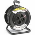 Удлинитель силовой на кабельной катушке, 50м, 4 розетки, 16А, серия УХз16// DENZEL 95906