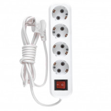 Удлинитель бытовой, с заземлением и выключателем, 3 м, 4 розетки, 10 A, серия УХз10 DENZEL 95976 в Алматы