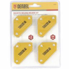 Набор из 4 магнитных фиксаторов для сварочных работ// Denzel 97555 в Алматы