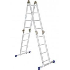 Лестница, 4 х 4 ступени, алюминиевая, шарнирная Pоссия 97791