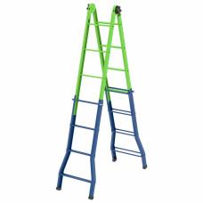 Лестница-трансформер, 121 см.-44 см. / 194 см.-394 см. Сибртех Россия 1 97891 в Алматы