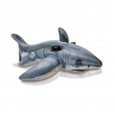 Надувная игрушка Intex 57525NP в форме акулы для плавания в Алматы