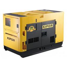 Дизельный генератор в ультратихом кожухе KIPOR KDE13SS3+KPATS-26-3 в Алматы